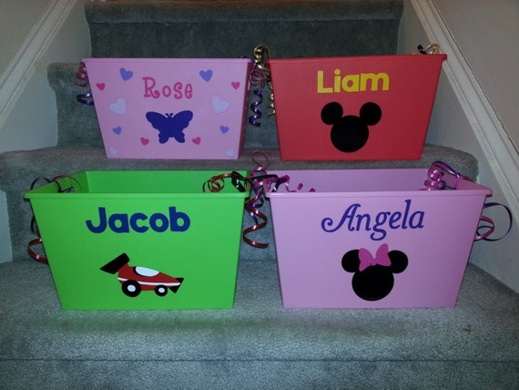 Personalized Toys For Boys : Items similar to personalized storage bin for boys and