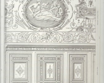 French Architectural Print, Chateau DÁncy, Henri III