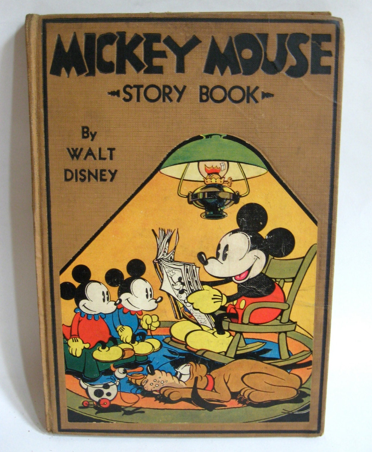 Vintage Hardcover Book : Mickey mouse story book rare walt disney hardcover