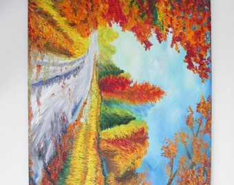 "The Road Ahead, Original Painting, Oil on Canvas, 24"" x 36"" (61 cm x 91 cm). Two purchasing options at two different prices available.."