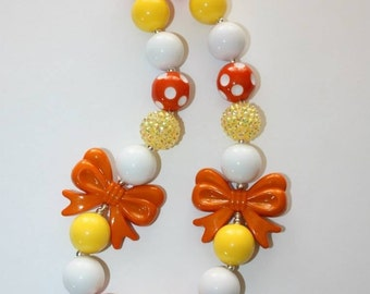 Thanksgiving Candy Corn Bubble Gum Necklace