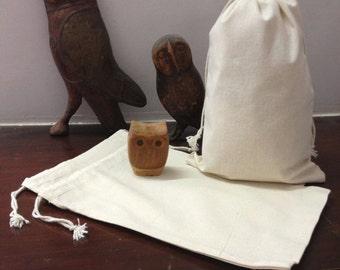 100 Bulk Premium Organic Cotton Muslin Bags 8 x 12 inches natural, plain, storage bag, gift bag, party favor, baby, wedding, bridal shower