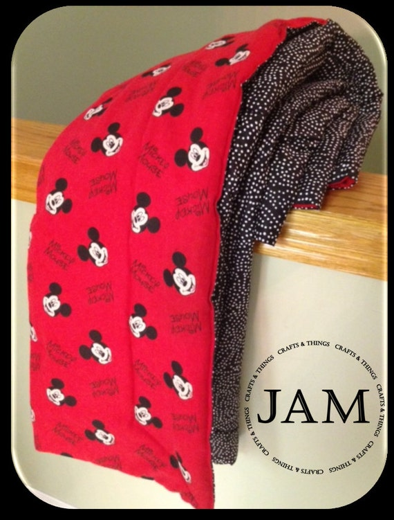 Large Blanket Mickey Mouse Adult Or Child Flannel