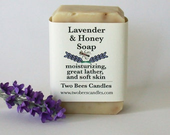 Lavender  Honey Soap, organic ingredients