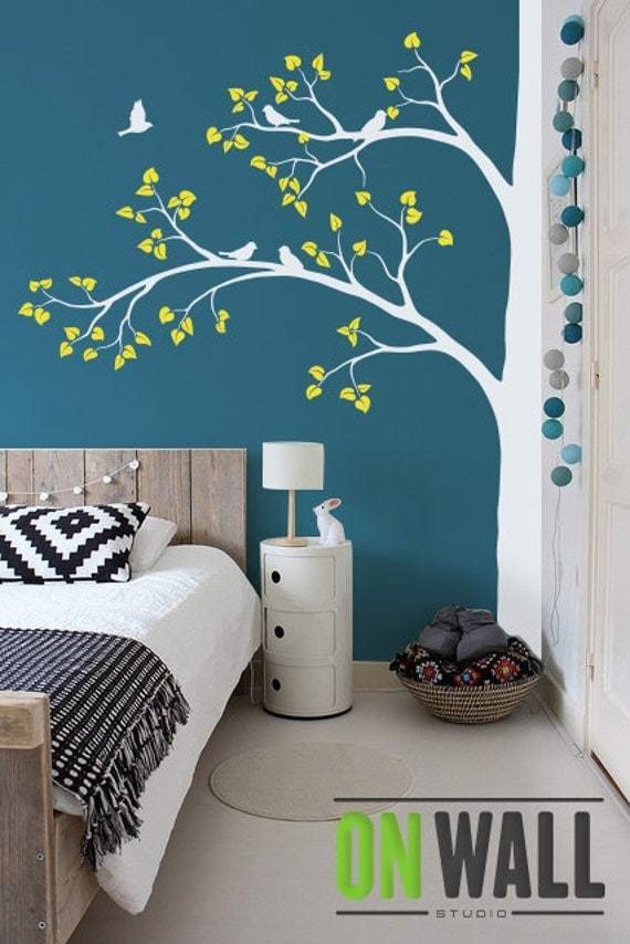 wall decal large tree wall decal living room wall