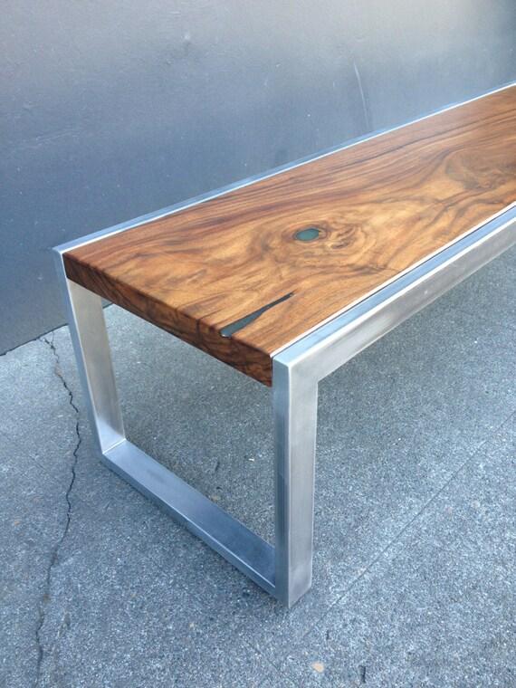 Items Similar To Modern Steel Solid Black Walnut Coffee Table Handcrafted In Portland Ore U