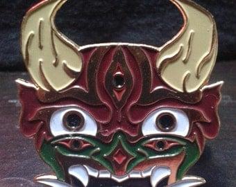 Japanese Hannya Mask Lapel Pin