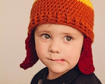Fire fly Crochet (tri-color hat) Jayne hat