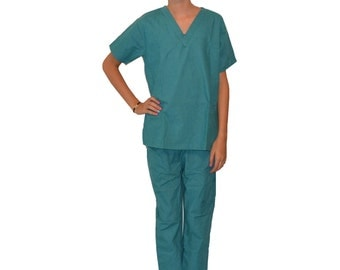 Teal Green Kids Scrubs for little Doctors and Nurses