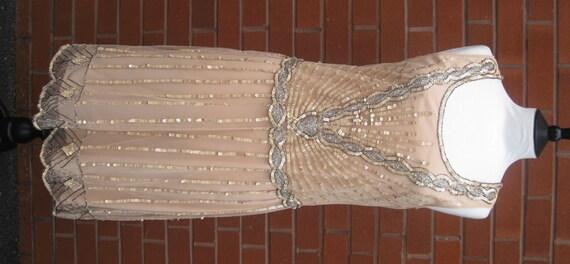 Uk8 us4 nude blush vintage inspired 1920s vibe by gatsbylady