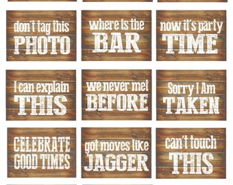 Wedding Photo Booth Props Printable Rustic for a Funny DIY wedding photobooth- props as Wood Inspired Signs Country Wedding