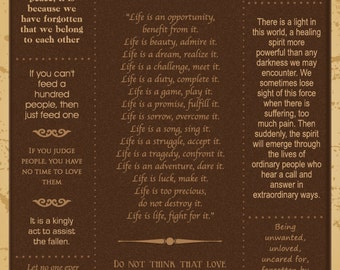 Mother Teresa Quotes Poster - Customizable