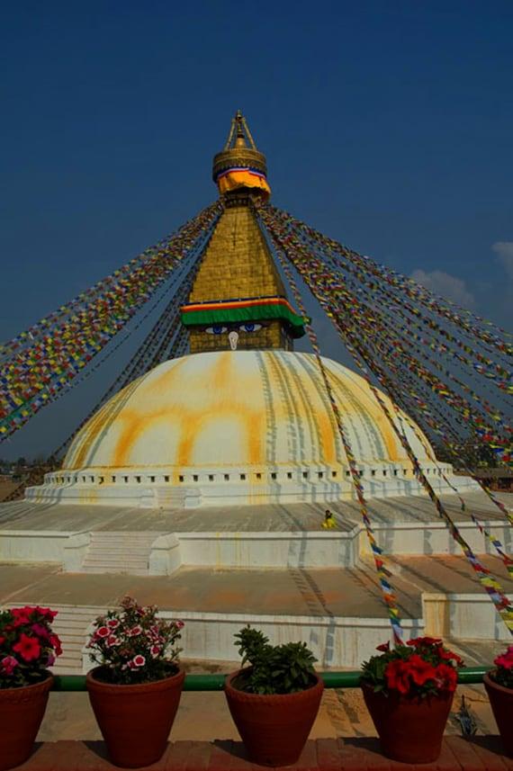 Items similar to great stupa kathmandu nepal landscape for Home decor nepal