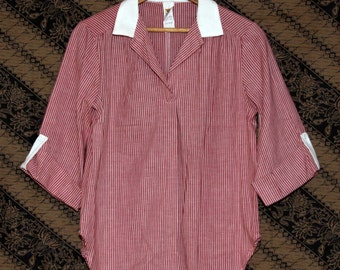 70's Cotton Swing Top Mister Marty of CA Red White Stripes S