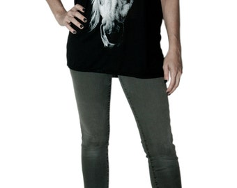 My Guardian Black Scoop Neck Tunic Horse T Shirt