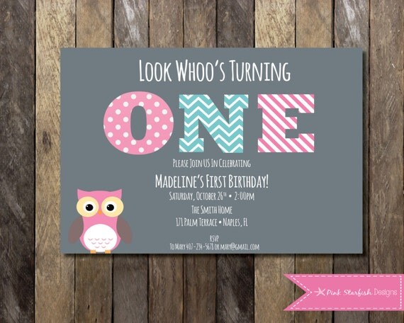 Owl First Birthday Invitations could be nice ideas for your invitation template