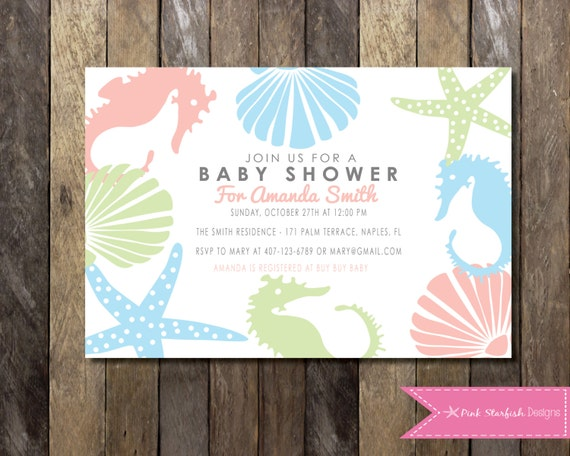 under the sea baby shower invitation baby shower invitation ocean