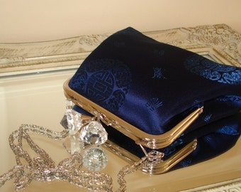 Blue Clutch Bag, Royal Blue Clucth , Bridesmaid Clutch, Silk Satin ...