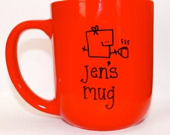 Hand Drawn Name Mug Mug (Customizable)