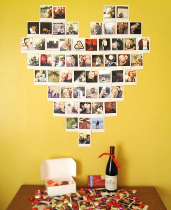 Très Articles similaires à Polaroid personnalisé coeur Collage sur Etsy RT11