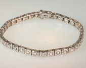 14k White Gold & Diamond Bracelet  4.0 carats  and free  shipping.     m204730.
