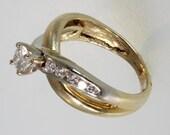 14k yellow gold diamond engagement ring 0.50 carat  free shipping   m107294.