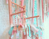 Custom High Chair Garland FABRIC RIBBON BANNER Garland  - Party, Decor, Any Color/Any Style - reserved for tara