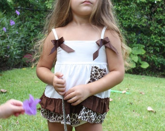 Leopard Swing Dress and Matching Bloomer