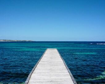 PIer Photography - Dock Photography, Boardwalk Photography, Australia Photography, Beach Photography, Ocean Photography,Fine Art Print,Decor