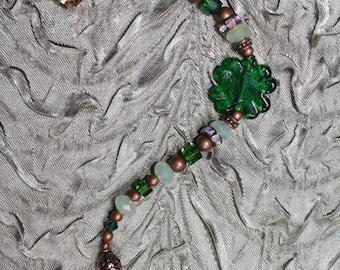 Lucky Shamrock - Crystal Bracelet