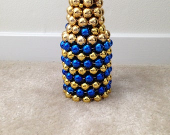 Mardi Gras Bead Single Flower Vase