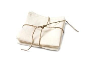 "6 Linen Napkins - 18""x18"" size. RED or OFF WHITE napkins, Party Decoration, Wedding Decoration, Birthday Decoration, Unique Napkins, Holiday"