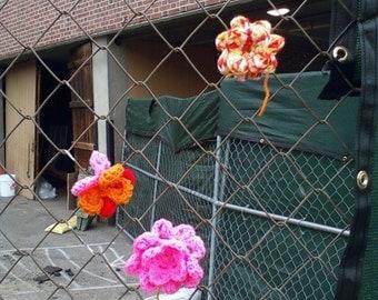 Crochet Yarnbomb Flower