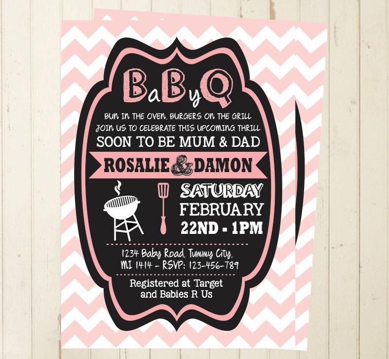 baby shower bbq invitation girl baby shower invite invitation