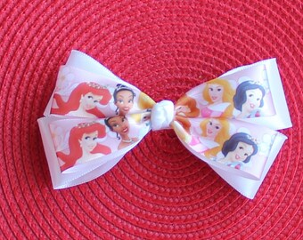 Disney Princess Boutique Hair Bow - Princess Hair Bow - Ariel Hair Bow - Snow White Hair Bow - Tiana Hair Bow - Sleeping Beauty Hair Bow