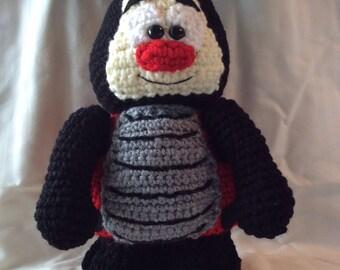 LadyBug crochet toy pattern tutorial, ladybug amigurumi , ladybug doll , lovebug , ladybird . instant download pdf format