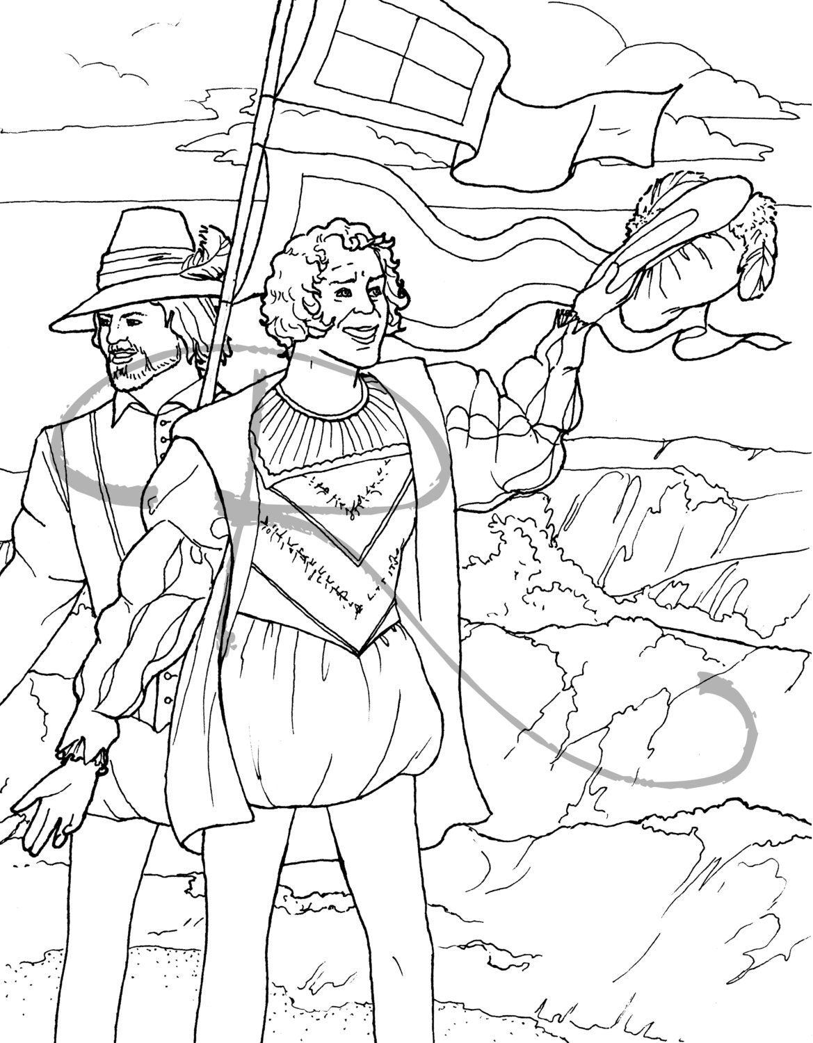 jamestown coloring pages - photo#12