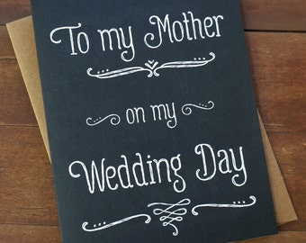Gift For Mom On My Wedding Day : To My Mother On My Wedding Day - Wedding Day Card for Mom - Mother of ...
