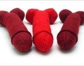 Ravishing Reds Penis Plushie MATURE The Prick Cushion Hard as a Brick Red Hot Poker Cranberry Relish