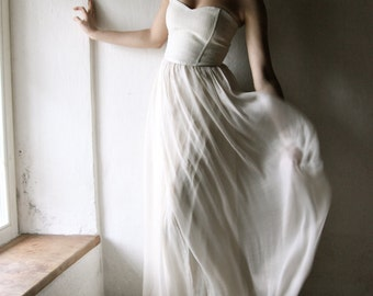 Wedding dress, Beach wedding dress, Boho wedding dress, Simple wedding dress, Alternative wedding dress, Chiffon wedding dress, Bohemian