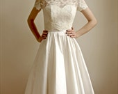 2 Piece, Lace and Silk Wedding Dress -- Elandra - ONLINE EXCLUSIVE ONLY