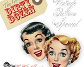 The (not so) Dirty Dozen - Vintage Pattern Summer Special!!