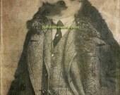 Hedgehog Artwork 5x7 - The Hedgehog Aviator - Hedgehog Art - Gift for Hedgehog Owner - Gift for Hedgehog Breeder - Hedgehog Print