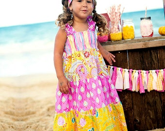 Girls Summer Dress - Girls Sundress - Pastel Dress