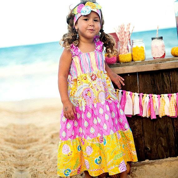 Girls Summer Dress - Girls Sundress - Pastel Dress