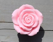 Rose Drawer Knobs - Cabinet Knobs in Baby Pink (RFK14)