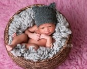 Newborn Animal Hat, Newborn Photo Prop, Newborn Hat Girl, Newborn Girl Hat, Knitted Newborn Hat, Newborn Girl Beanie, Newborn Beanie Girl