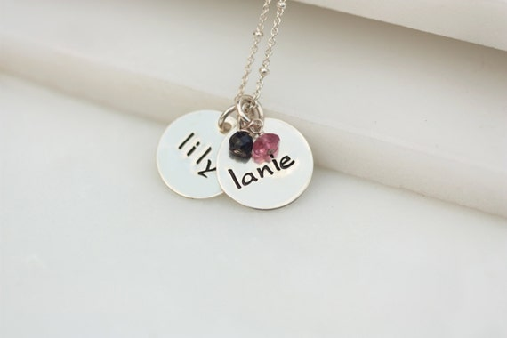 names necklace child name necklace by