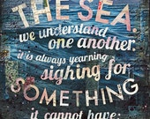 And So Am I - paper print - inspirational ocean word art