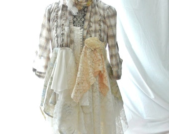 Fall Duster, WHOLESALE FOR B gypsy woman, clothing, romantic bohemian gypsy, Mori girl, Victorian lace linen coat, True rebel clothing